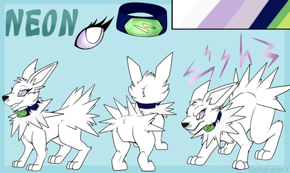 Neon Reference Sheet :C: by KaitofalonX