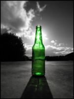 bottle on driveway by eRiQ