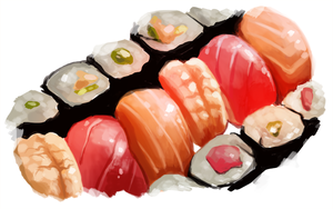 Sushi painting 2 by bylacey