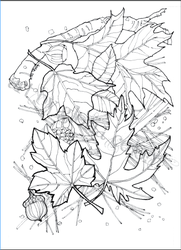 Autumn coloring card by ArtbyGloriaColom