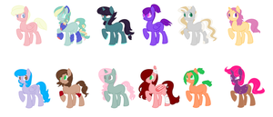5 Point Pony Adoptables! [CLOSED] by inkaXkirby