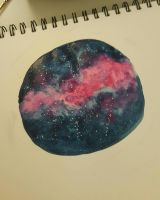 Watercolour Galaxy by Valieh