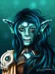 Water Wolf (Starcall Request) by LacrimareObscura