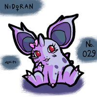 PKMNATHON 029 - Nidoran F by mopinks