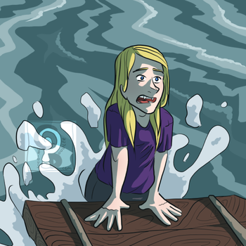 Lisa in the Sea by curiousdoodler