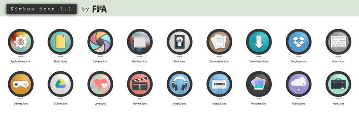 KIRKOS folder icon set by fijea