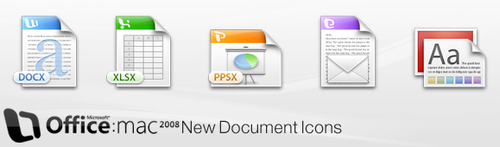 Office 2008 New Document Icons by hohodigidea