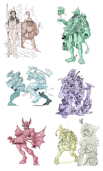 More Fantasy Classes by AngusBurgers