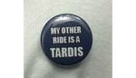 My Other Ride is a Tardis Button by LillyInverse