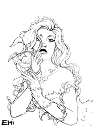 Poison Ivy - Lineart by Tokio92