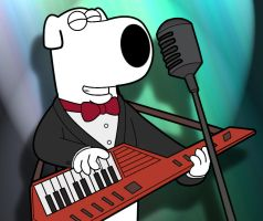 Brian playing keytar by shockblastpl