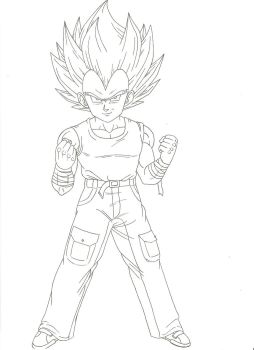 Vegeta Jr. Super Saiyano by Hector444