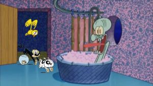 The Loud Pets drop by Squidward's House by Wildcat1999