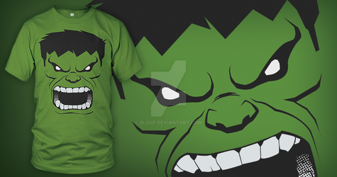 Too Late, He's Angry (Hulk T-shirt) by blo0p