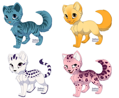 Colour cat adopts by Silver-Shadow7