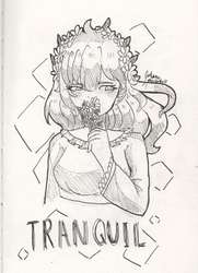 (Inktober2) Tranquil by mysterika18