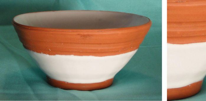 White and Orange Bowl by valentineosarus