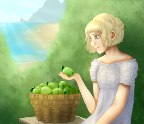 Green apples by NoAmare