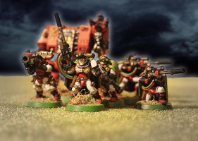 Warhammer 40K Space Marines Scouts by solterbeck65