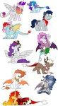Next Gen Mane Characters by Numbuh-27