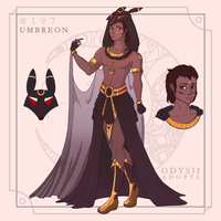 Gijinka adopt 1 - Umbreon [closed] by odysii-adopts