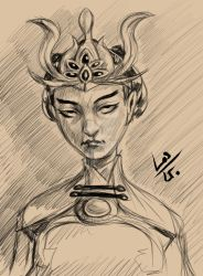 Nuxia Sketch by TheLosGee