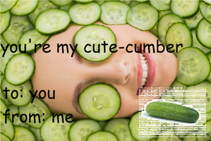 cucumber valentines card by PlanetServv