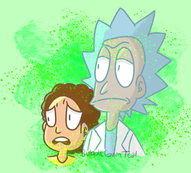 Rick and Morty fanart by Bubblegumteal