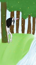 Horse in an enchanted forest (influenced dreams) by emmersart