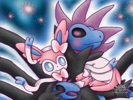 Hydreigon and Sylveon