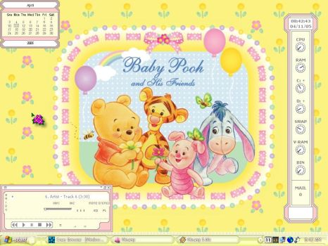 Baby Pooh and Friends. by chickie