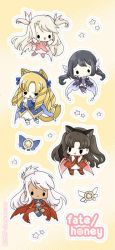 fate/honey stickers! by Cinnamoron