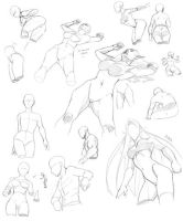 Poses from below by Precia-T