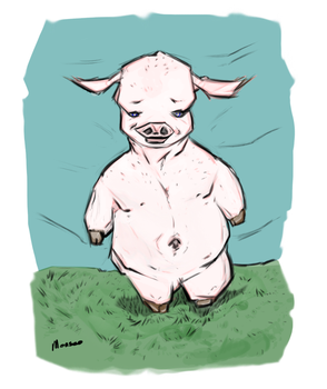 Piggly : Character Study 1 by Monseo