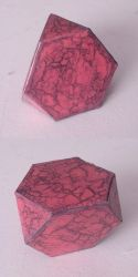 truncated tetrahedron [pink crackle] by dragon-dan