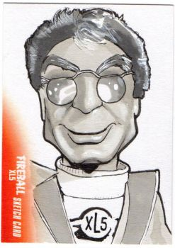Fireball XL5 Sketchcard by amines1974