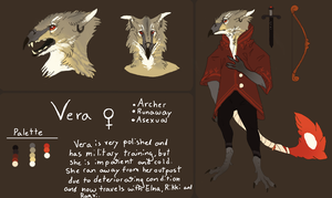 Vera Ref Sheet (might change a little) by Quadrupedal