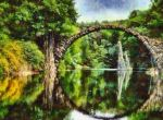 Rakotz Bridge Kromlau Germany by RHuggs
