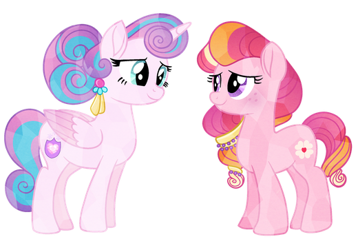 Interdimensional Crystal Sisters by CarouselUnique