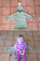 Green fana tunic, 4-6 years by KnitLizzy