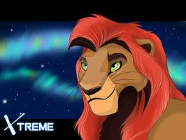 The Lion King - Kopa  and northern lights by Diego32Tiger