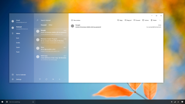 Mail App - Windows 10 Project Neon Concept by SamuDroid