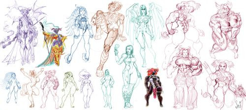 Character Design Sketchdump by Jebriodo