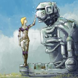 Girl in Field of Machines Part 1 by ryuzo