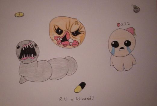 The binding of Isaac birthday drawing by YiffyCupcake
