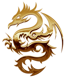 Gold Dragon Stock by Rhabwar-Troll-stock
