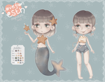 [OPEN] Starfish Mermaid - Adoptable #8 by LoveFromEsth