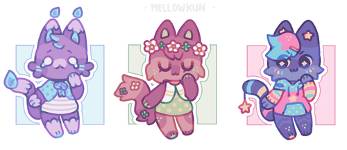 + kitty cat (closed bois) + by MellowKun
