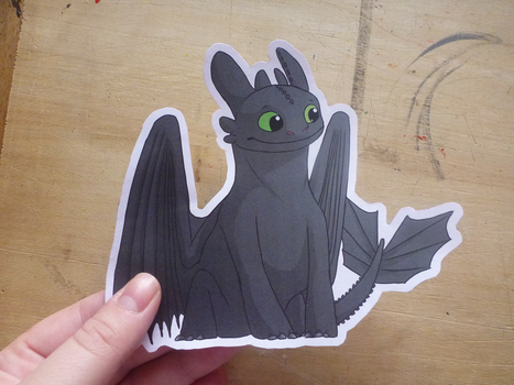 Toothless sticker by NightFury1020