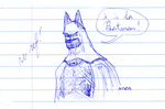 Batman Quick Sketch No Ref by AdamTSC